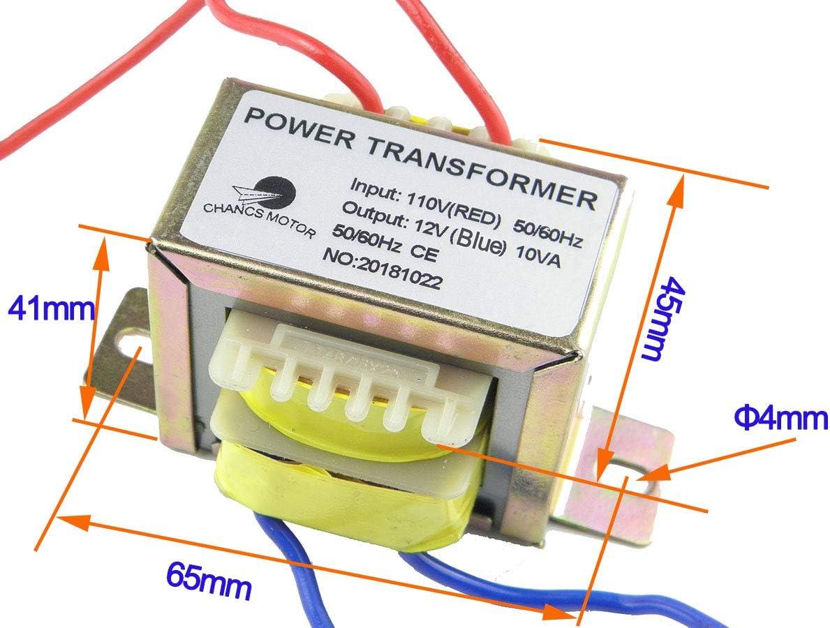 Amazon.com: CHANCS Power Transformer Input 110V Output AC 12V AC/AC  Transformer for Sychronous Motor: Home Audio & Theater | 110v Ac Wiring |  | Amazon.com