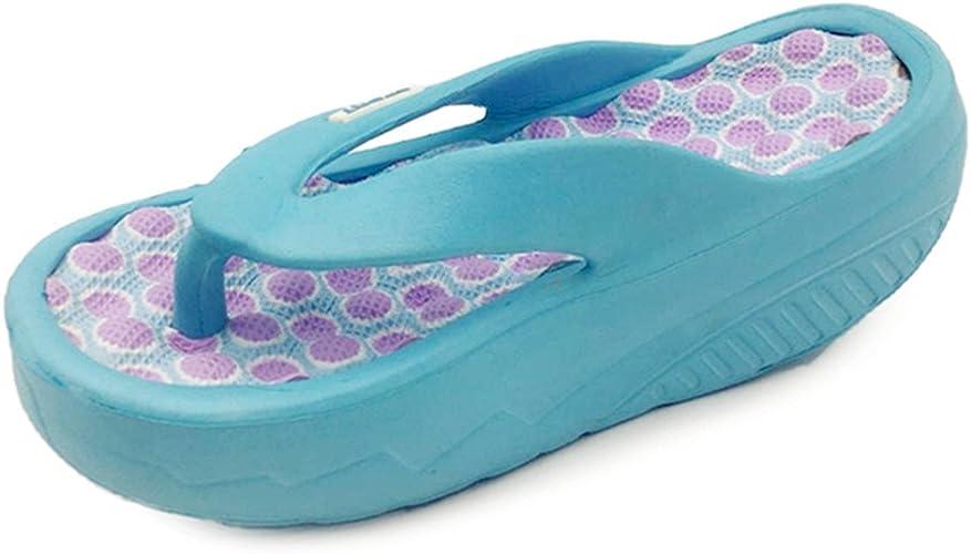 US Women/'s High Heel Wedge Platform Thong Flip Flops Sandals Beach Slipper Shoes