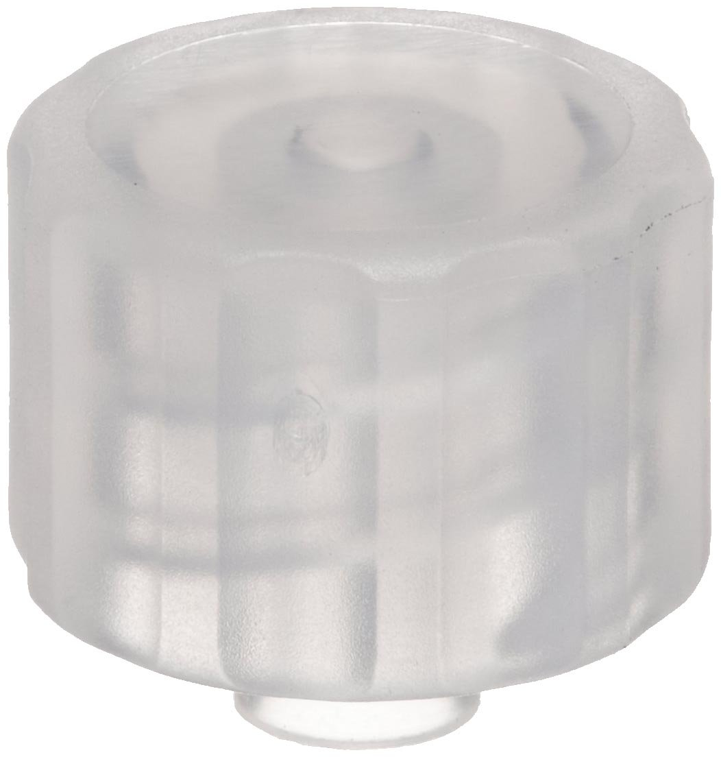 Value Plastics LP4-6 Natural Polypropylene Tube Fitting Pack of 25 Male Luer Integral Lock Ring Cap Closed at Grip