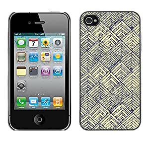 Soft Silicone Rubber Case Hard Cover Protective Accessory Compatible with Apple iPhone? 4 & 4S - scales pen art vignette yellow paper