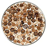 Bronze Transparent Frit Balls - 96COE, New Larger 1oz Size - Made from System 96 Glass
