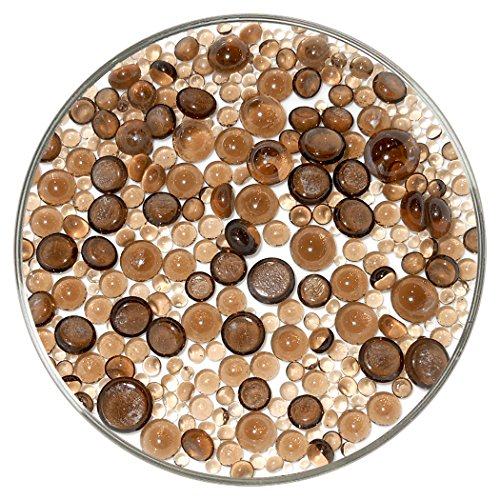 Bronze Transparent Frit Balls - 96COE, New Larger 1oz Size - Made from System 96 Glass by New Hampshire Craftworks