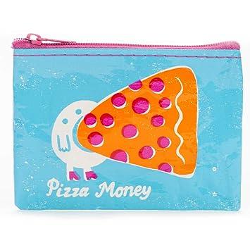 Moneda Azul Q monedero pizza dinero: Amazon.es: Hogar
