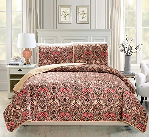 red quilted coverlet - 5