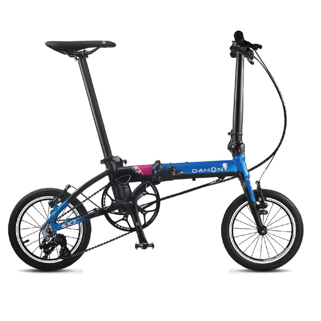 Bronze 1203491cm Folding Bikes Bicycle Folding Bicycle Unisex 14 Inch Ultra Light Small Wheel Bicycle Portable 3 Speed Bicycle (color   Red, Size   120  34  91cm)