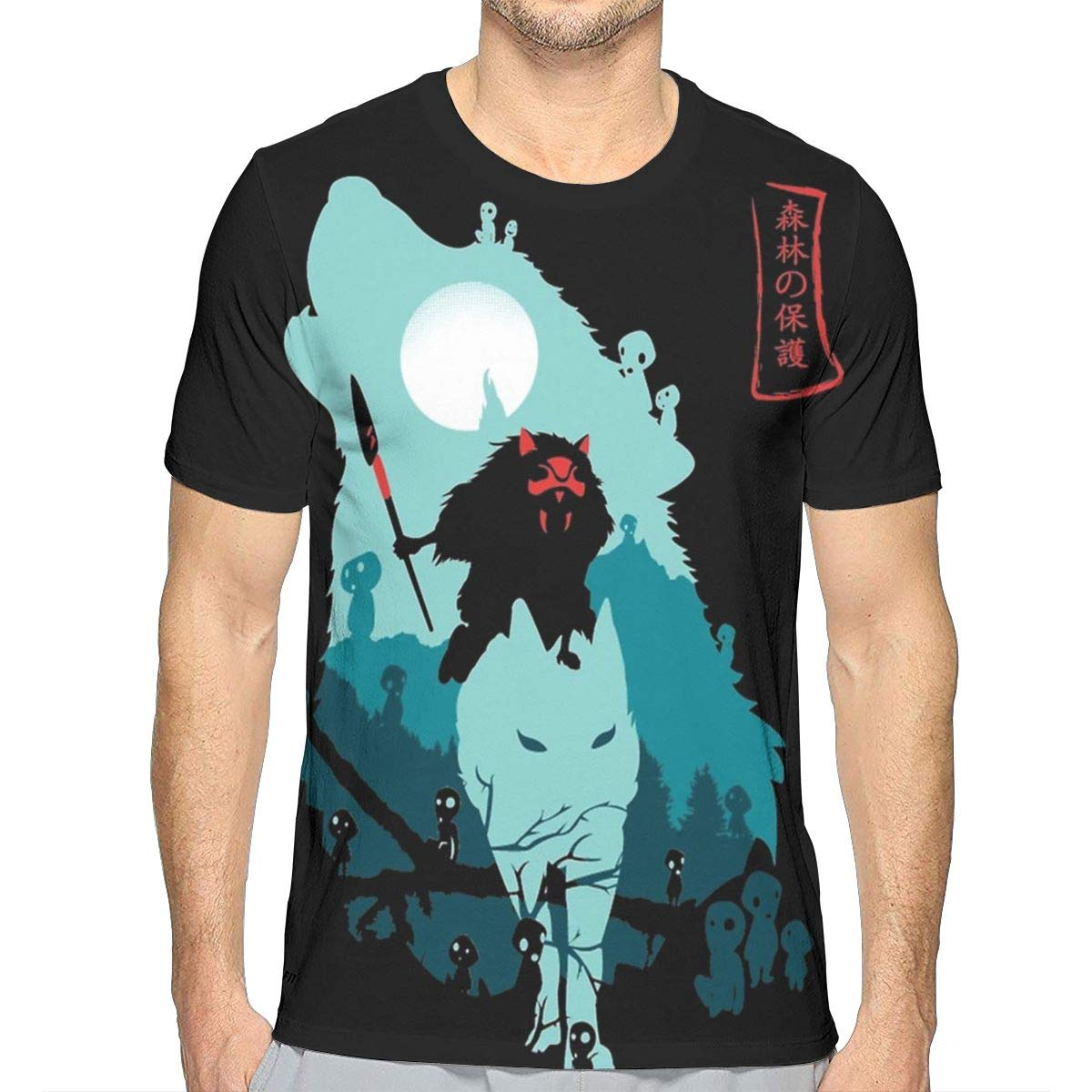 Lovebbag Princess Mononoke Mens 3d All Print Short Sleeve T Shirt