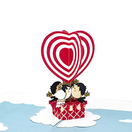 Amazon Paper Love Hot Air Balloon Pop Up Card 3D Popup
