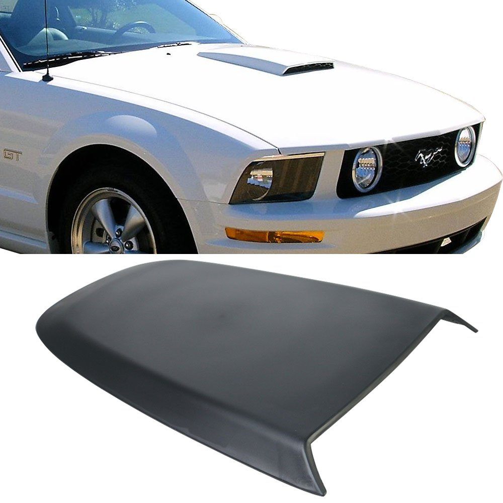 Universal Fitment Fit ABS Air Flow Hood Vent Scoop Bonnet Cover V4 Style length 27'' width 16.5'' height 2'' by IKON MOTORSPORTS by IKON MOTORSPORTS (Image #1)