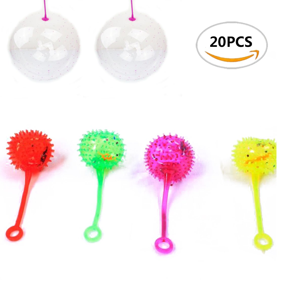 20pcs Sc0nni Funny Toy Rubber Balls,For Student,Children's Party And So on(5 styles)