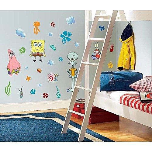 [45 New SPONGEBOB SQUAREPANTS WALL DECALS Kids Bedroom Stickers Room Decorations] (Spongebob Wall Border)