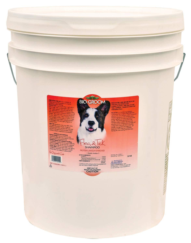 Bio-Groom Flea and Tick Dog/Cat Conditioning Shampoo, 5-Gallon by Bio-groom