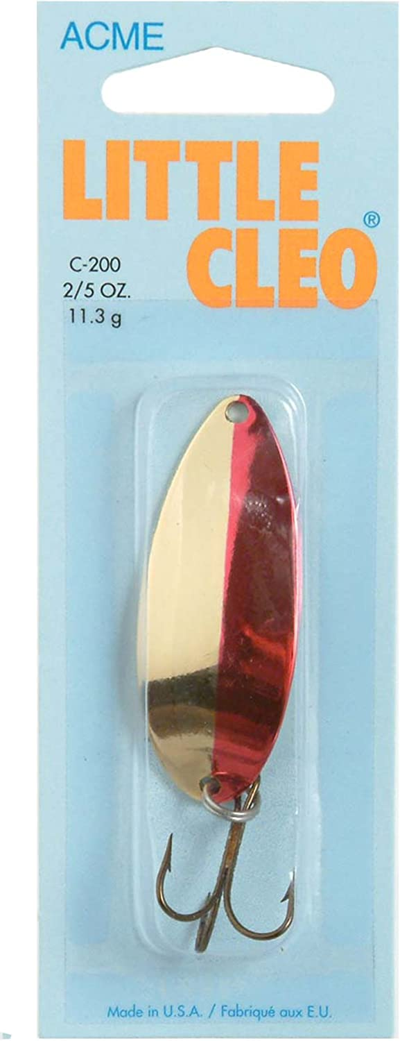 Gold /& Gold//Neon Red Acme Tackle LITTLE CLEO 2 Pks 1//8 oz