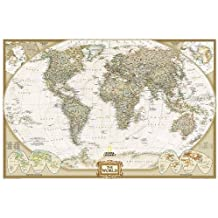 National Geographic: World Executive Wall Map (36 x 24 inches) (National Geographic Reference Map)