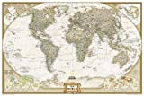 World Executive, Poster Size, tubed : Wall Maps World (National Geographic Reference Map)