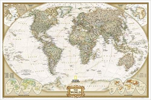 Amazon buy world executive poster size tubed wall maps amazon buy world executive poster size tubed wall maps world national geographic reference map book online at low prices in india world executive gumiabroncs Image collections