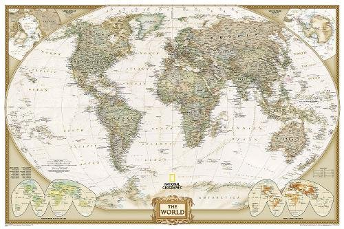 World Executive [Poster Size and Tubed] (National Geographic Reference Map) cover