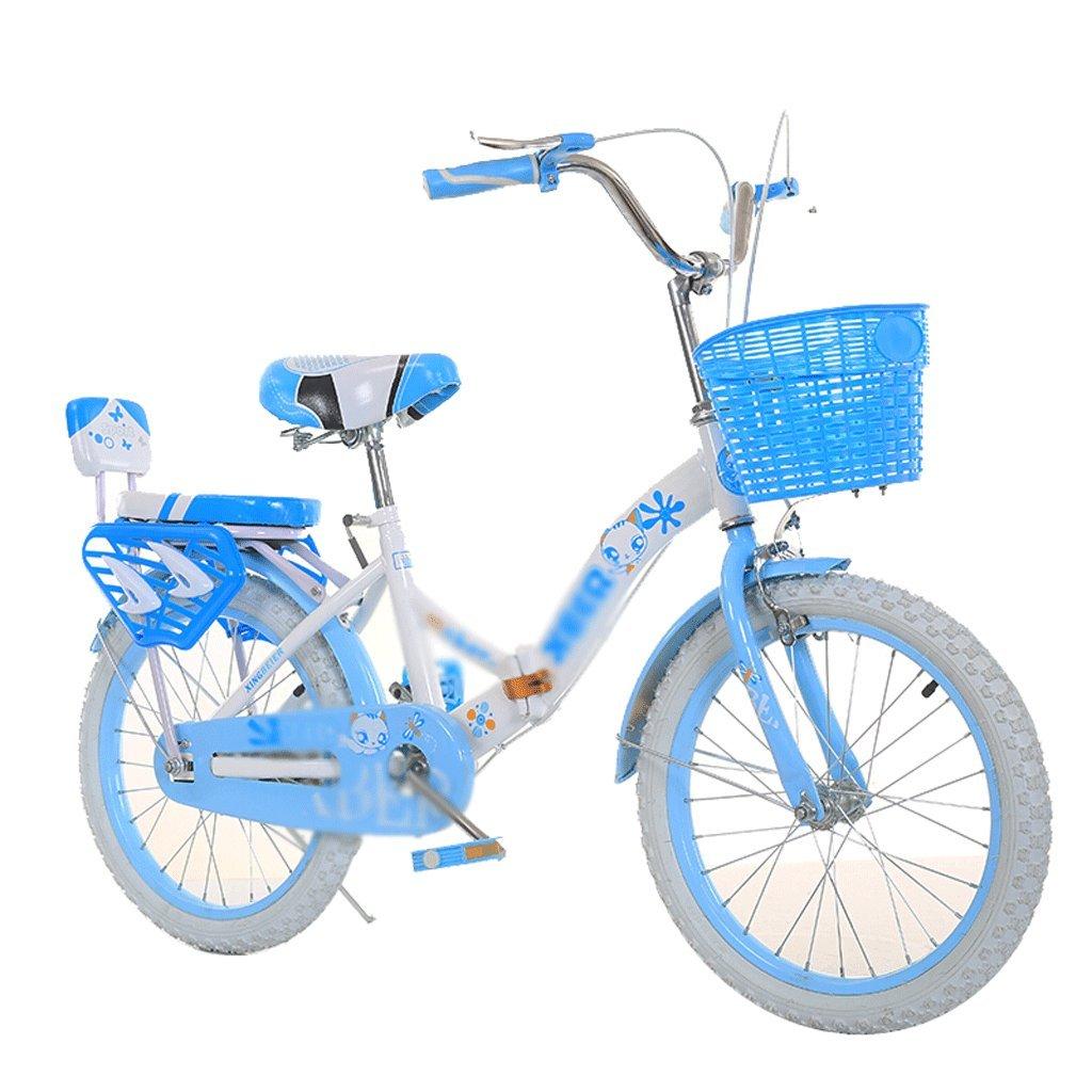 Duwen子供の自転車折りたたみ子供の自転車22 /20 /16 /18インチpupils 6 – 7-8 – 9-10 – 12 Old Baby Girlホワイト折りたたみ赤ちゃんのピンクバックフレーム16インチ B07F6CWCZ5 20 inch
