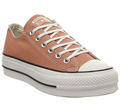 37c718f51cac90 Converse Chuck Taylor All Star Lift Ox Women s Shoes Desert Peach White  Black 563495c