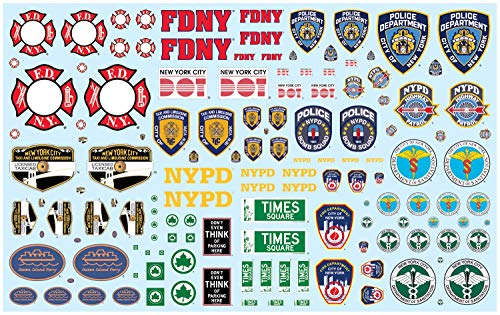 NYC Auxiliary Service Logos Decals for 1/25 Scale Models by AMT ()