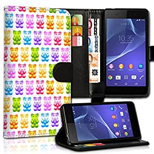 Wallet Wicostar–Funda Case Funda Carcasa diseño Funda para Sony Xperia Z1Compact–Diseño Flip mvd82