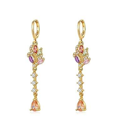 Aretes de joyería de moda de mujer elegante