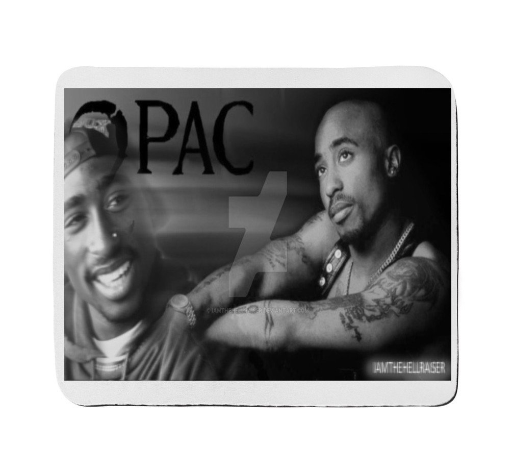 Classic 2pac tupac shakur black and white double image amazon co uk electronics