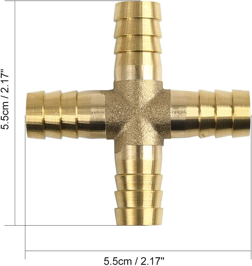 X AUTOHAUX 10 mm Adaptador de Conector Recto para Manguera de Gas de Aire
