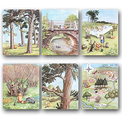 Classic Winnie the Pooh Art (Nursery Wall Decor, Baby Room