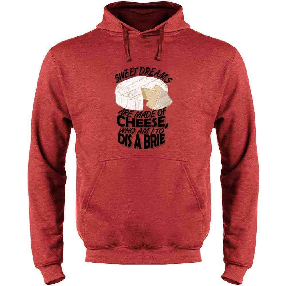 Mens Fleece Hoodie Sweatshirt Sweet Dreams are Made of Cheese