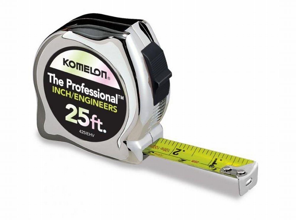 Tape Measure,1''X25' I/Engineer by Komelon