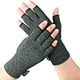 Arthritis Compression Gloves Relieve Pain from Rheumatoid, RSI,Carpal Tunnel, Hand Gloves Fingerless for Computer Typing and Dailywork, Support For Hands And Joints by DISUPPO (Medium Gray)