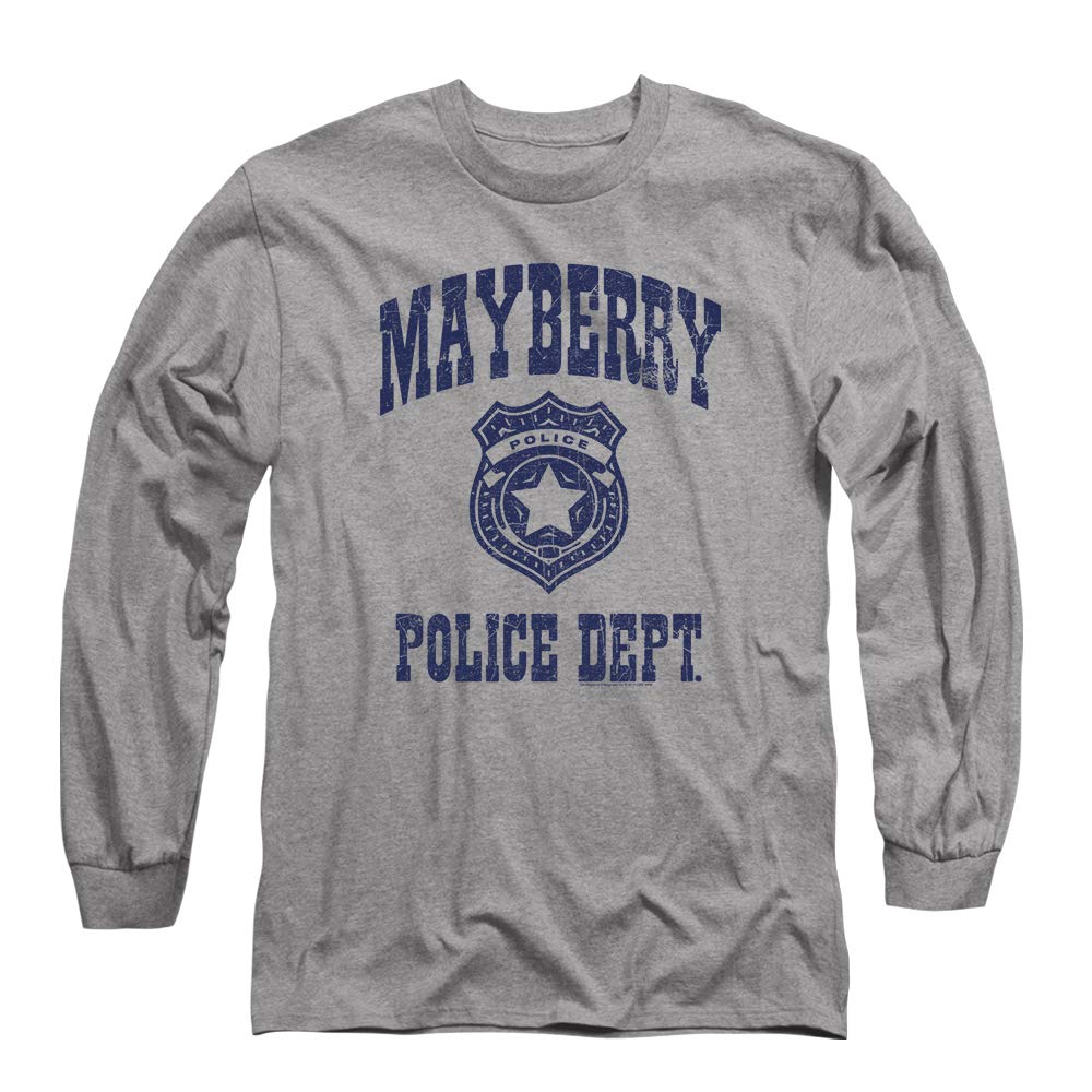 315c0b02 Amazon.com: Popfunk Andy Griffith Mayberry Police Department Longsleeve T  Shirt & Stickers: Clothing