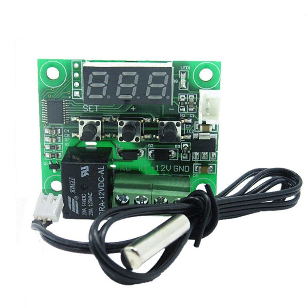 Dreamyth W1209 DC12V -50~110°C Digital High PrecisionThermostat Temperature Control Switch Board Sensor