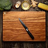 Monete Olive Wood Deluxe Cutting Board -16 x 11 Inches