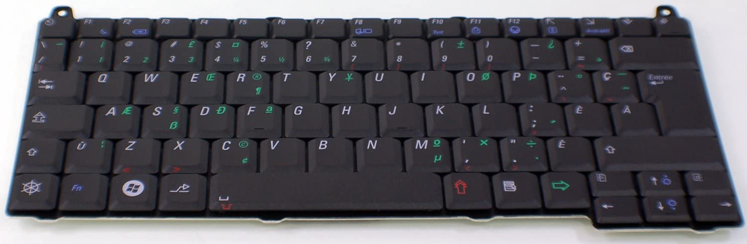 Dell New Genuine OEM Vostro 1310 1320 1510 1520 2510 Keyboard French Canadian Quebec C412K PK1305E06Y0 MP-03266QB Clavier Francais