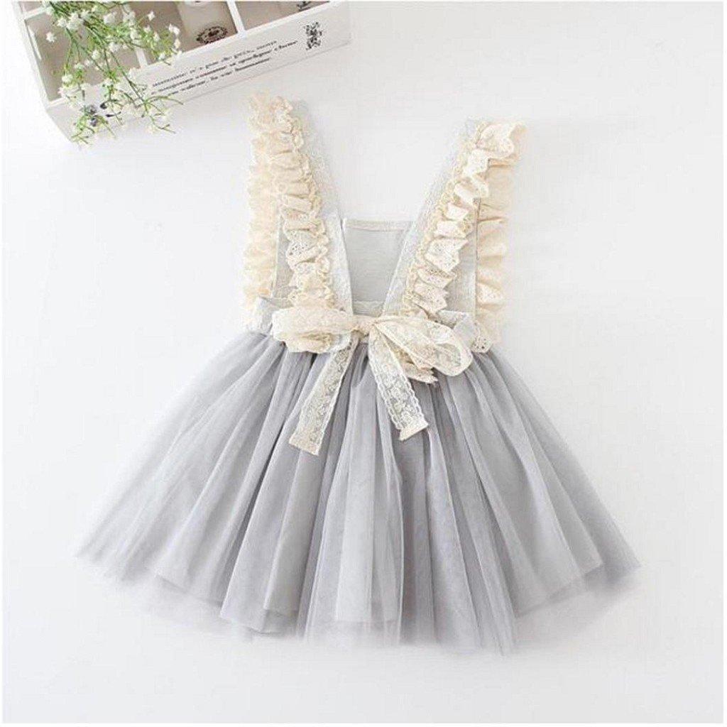 54bb07e737ca Amazon.com  Creazrise Baby Sleeveless Tutu Dress