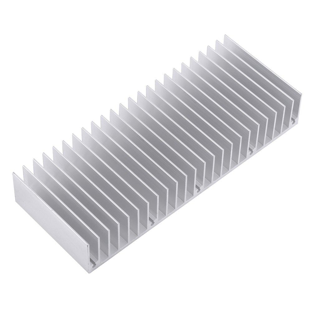 Aluminum Heat Sink Heatsink Module Cooler Fin for High Power Amplifier Transistor Semiconductor Devices with Dense 24 pcs Fins 5.9''(L) x 2.3''(W) x 0.98''(H) 1pc/ 150 mm (L) x 59mm (W) x 25mm (H)