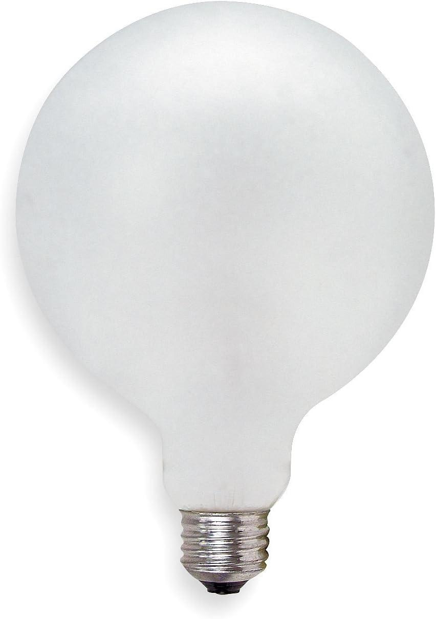 GE LIGHTING 60W, G40 Incandescent Light Bulb