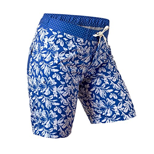 UV Skinz UPF 50+ Womens Board Shorts (4XL, Navy Blue Aloha)