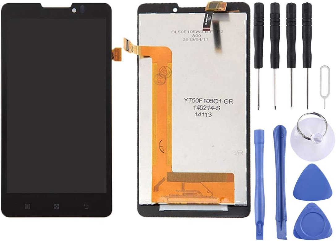 Linmatealliance LCD Screen Replacement LCD Replacement Touch Screen LCD Screen and Digitizer Full Assembly for Lenovo P780