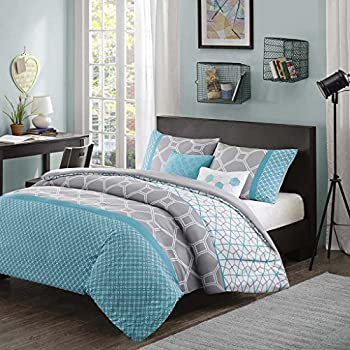 comforter com madison brown dp blue bed aubrey size a king park set in bag amazon