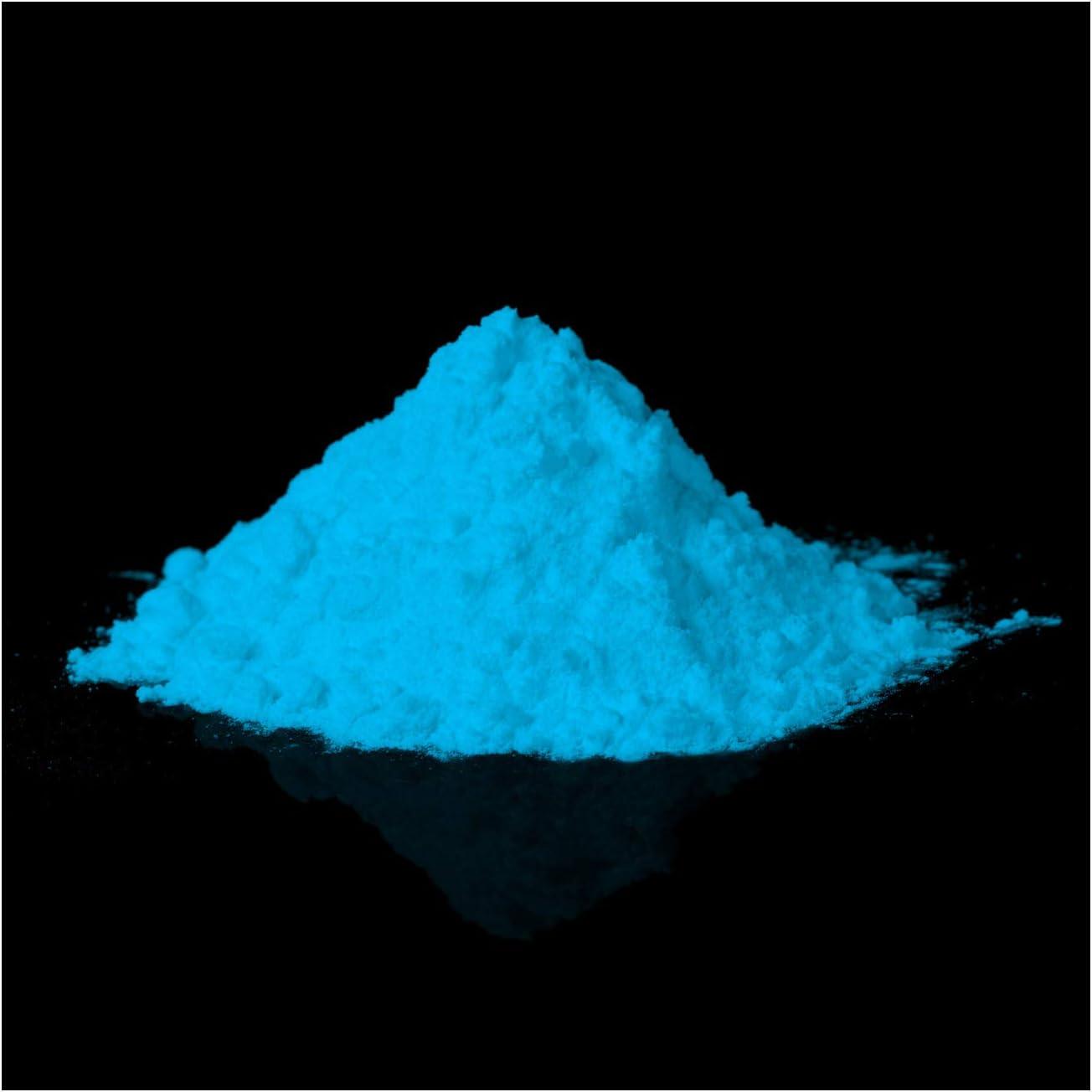 Pigmentos fosforescentes que brillan en la oscuridad – Polvo luminoso profesional, polvo auto luminoso, pigmentos luminosos nocturnos, pigmento de ...
