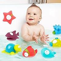 9-Pack Océano Squirting juguete del baño del Organizador