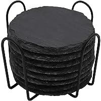 Ceramic drink coasters Black Stone