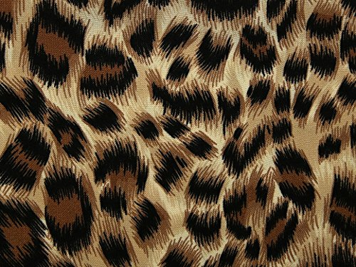 Animal Print Soft Crepe Dress Fabric Brown - per metre