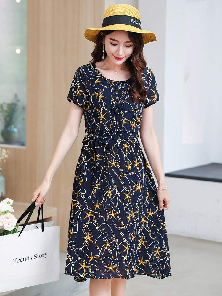 Woman Dress Silk Dress Silk Spring and Summer Slim Slimming Fashion Long Skirt