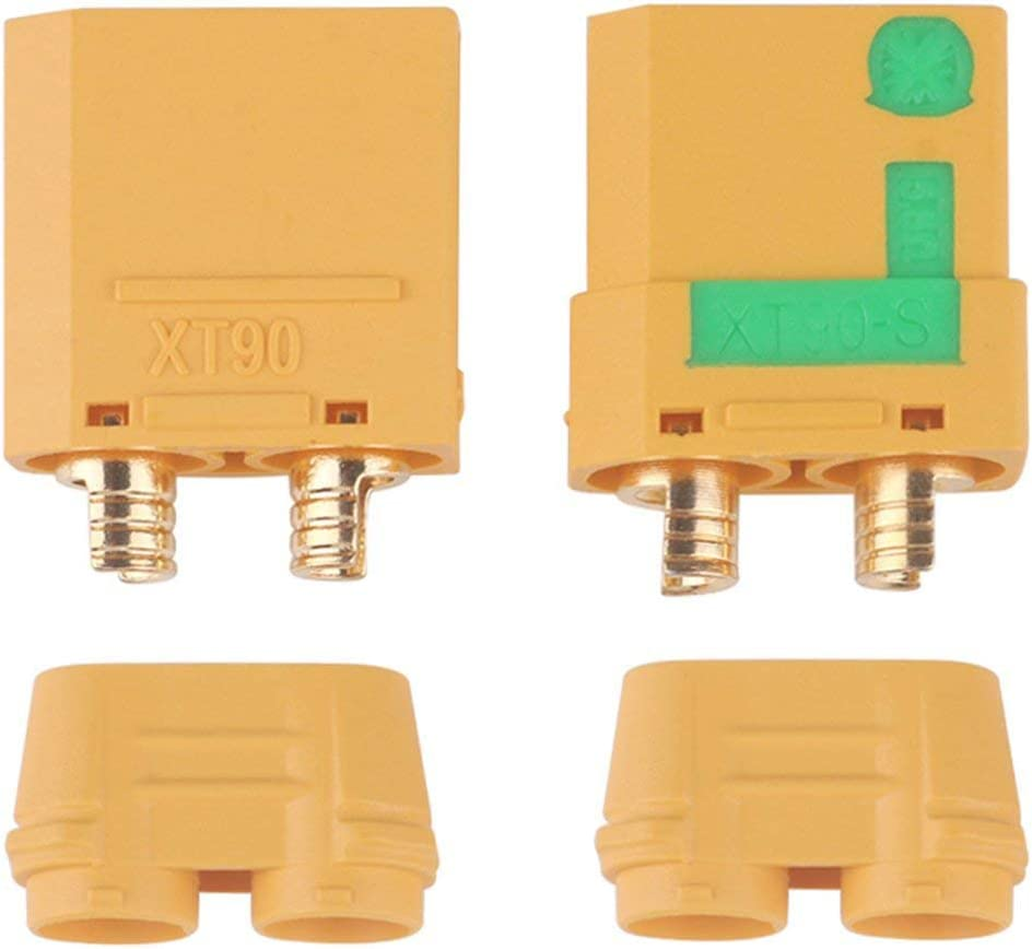 Amass XT90-S 90A Anti Spark 4.5mm Connector Plug Male//Female SET of 4