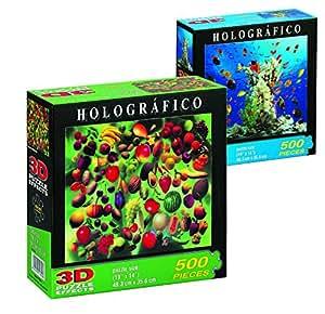 Falomir - Puzzle holográfico de 500 piezas, 2 modelos (11749)