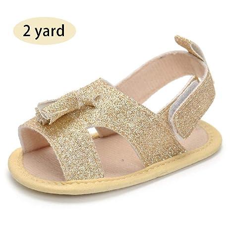 2019 Lindas Sandalias Suaves para niña, Zapatos de Oro para niños de Verano