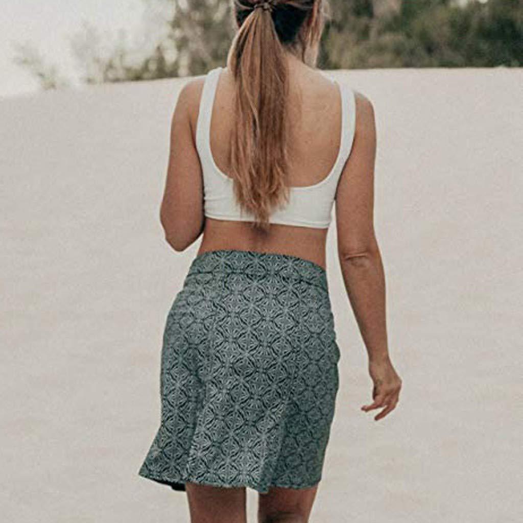 Clearance! Sunfei Women Print Quick Wrap Bikini Cover-up Multitasks Travel Lady Beach Summer Skirt (Black, Large) by Sunfei_Women Swimwear (Image #3)
